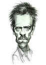 Caricature of Dr. House Royalty Free Stock Photo