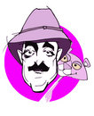 Caricature series: Peter Sellers Royalty Free Stock Photo