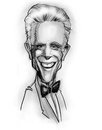 Caricature of Ted Danson (actor) Stock Photography