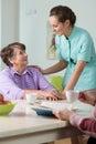 Caring nurse Royalty Free Stock Photo