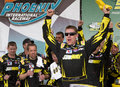 Carl edwards victory lane winning subway fresh fit nascar sprint cup race phoenix arizona usa Royalty Free Stock Images