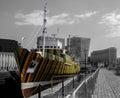 Carlos cruz diez dazzle ship at the albert docks liverpool colour splash used to highlight the amazing Royalty Free Stock Photo
