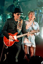 Carlos Santana and Rob Thomas Royalty Free Stock Images