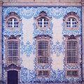 Carmo church in porto tiled wall of portugal Royalty Free Stock Photos