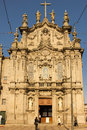 Carmo Church. Rococo facade . Porto. Portugal Royalty Free Stock Photos