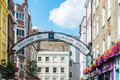Carnaby street in london image was taken on august Royalty Free Stock Photo