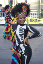 Carnaval barranquilla feb del bicentenario years of once a year colombia hold there carnival street parade a dancer with Royalty Free Stock Image