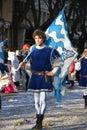 Carnaval - flag-waver medieval Imagen de archivo libre de regalías