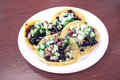 Carne Asada and Carnitas Taco Plate Royalty Free Stock Photo