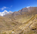 Carnicero, the  Cordillera Huayhuash Royalty Free Stock Images