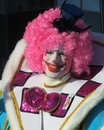 Carnival aalst belgium march unknown participant dressed as a clown dances in the annual parade the is recognised Royalty Free Stock Image