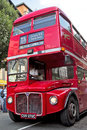 Carnival bus london august an old london routemaster takes part in the notting hill playing host to performers and musical bands Stock Photography