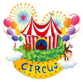 A carnival with a circus signboard illustration of on white background Stock Photos