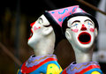 Carnival clowns Royalty Free Stock Images