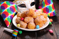 Carnival confection close up on Royalty Free Stock Photos