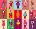 Carnival costume people in costumes vector illustration Royalty Free Stock Photography