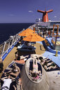 Carnival Cruise Ship - Sunning on Deck Royalty Free Stock Photos