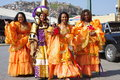 Carnival dancers in Samba City Royalty Free Stock Photo