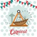 Carnival festival cartoons Royalty Free Stock Photo