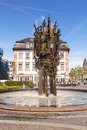Carnival fountain in mainz germany may famous on may germany blasius spreng errected the to honor the habit of Royalty Free Stock Image