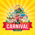 Carnival funfair design vector illustration of the Royalty Free Stock Photos