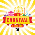 The carnival funfair and magic show vector illustration Stock Photos