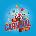 Carnival and funfair vector illustration of the design Stock Images