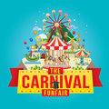 Carnival funfair vector illustration of the design Stock Photo