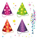 Carnival hats colorful design elements Stock Images