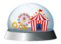 A carnival inside a dome illustration of on white background Stock Photos