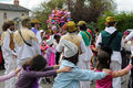 Carnival kindergartens parade sable sur sarthe france april Royalty Free Stock Photos