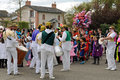 Carnival kindergartens parade sable sur sarthe france april Stock Photography