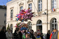 Carnival kindergartens parade sable sur sarthe france april Royalty Free Stock Photography