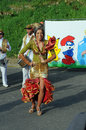Carnival kindergartens parade sable sur sarthe france april Stock Image