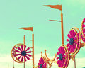 Carnival lights with sky background Royalty Free Stock Photos