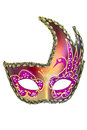 Carnival mask christmas new year venetian white background isolated object Stock Images