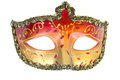 Carnival mask christmas new year venetian white background isolated object Stock Photo