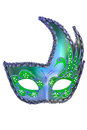 Carnival mask christmas new year venetian white background isolated object Stock Photography