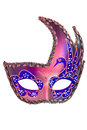 Carnival mask christmas new year venetian white background isolated object Royalty Free Stock Photos