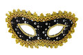 Carnival mask masquerade christmas black gold white background silver new year Stock Photography