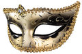 Carnival mask masquerade christmas black gold white background silver new year Royalty Free Stock Image