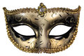 Carnival mask masquerade christmas black gold white background silver new year Stock Photos