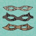 Carnival mask set lacy vector illustration Stock Images