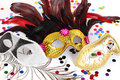 Carnival masks Royalty Free Stock Images