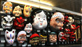 Carnival masks heritage tradition for for sale in asakusa tokyo japan Royalty Free Stock Image