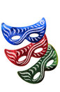 Carnival masks isolated on the white background Royalty Free Stock Photo