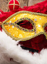 Carnival new year s mask and decoration Stock Photos