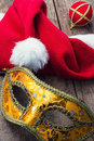 Carnival new year s mask and decoration Royalty Free Stock Image