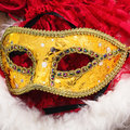 Carnival new year s mask and decoration Royalty Free Stock Images