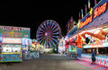 Carnival at Night Royalty Free Stock Photo